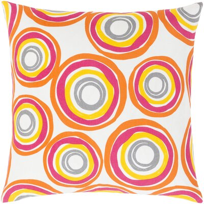 Clayton Cotton Pillow Cover Size: 18 H x 18 W x 1 D, Color: Yellow/Orange