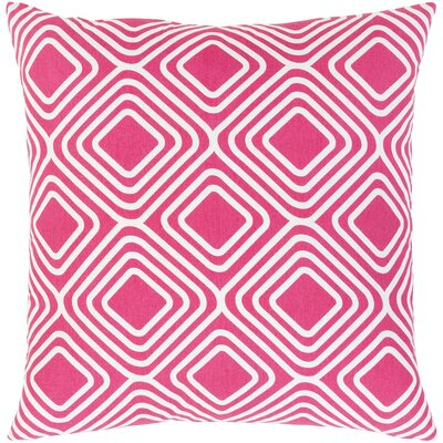 Clayton Cotton Pillow Cover Size: 20 H x 20 W x 0.25 D, Color: Pink
