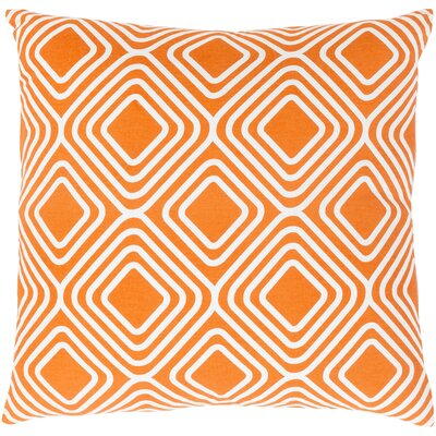 Clayton Cotton Pillow Cover Size: 20 H x 20 W x 0.25 D, Color: Orange