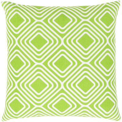 Clayton Cotton Pillow Cover Size: 22 H x 22 W x 1 D, Color: Green