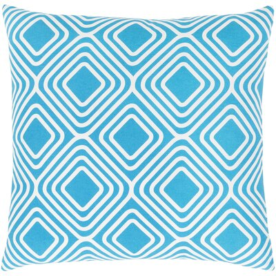 Clayton Cotton Pillow Cover Size: 18 H x 18 W x 1 D, Color: Aqua