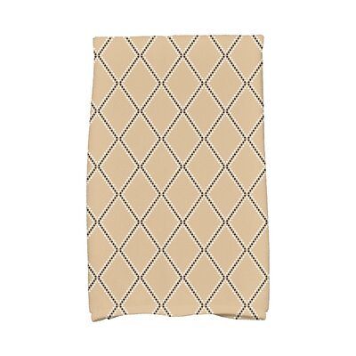 Diamond Dots Hand Towel Color: Taupe