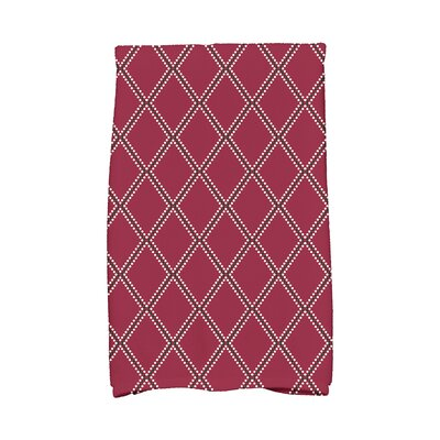 Diamond Dots Hand Towel Color: Cranberry
