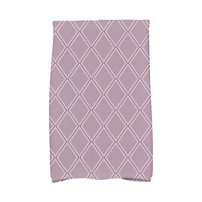 Diamond Dots Hand Towel Color: Lavender