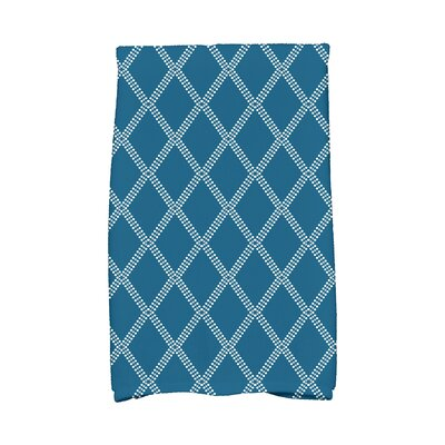 Diamond Dots Hand Towel Color: Teal