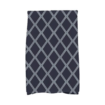 Diamond Dots Hand Towel Color: Blue