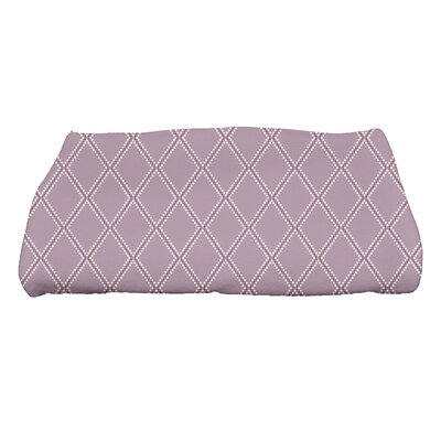 Diamond Dots Bath Towel Color: Lavender