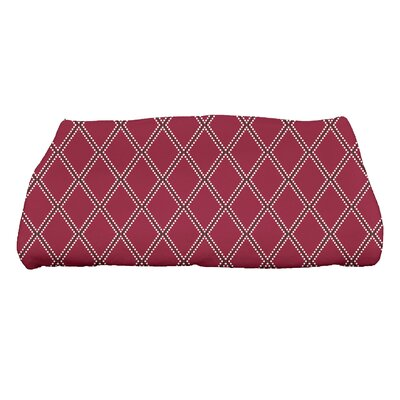 Diamond Dots Bath Towel Color: Cranberry