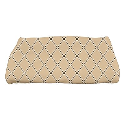 Diamond Dots Bath Towel Color: Taupe