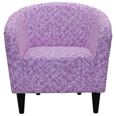 Alma Barrel Chair Color: Fuchsia