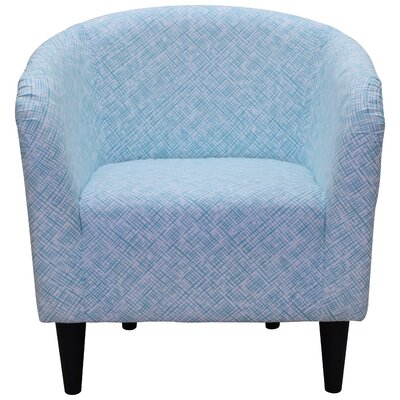 Alma Barrel Chair Color: Aqua