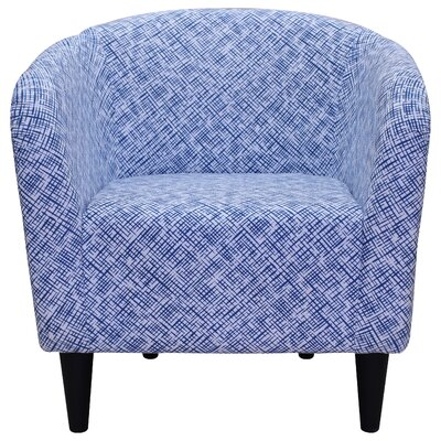 Alma Barrel Chair Upholstery: Blue