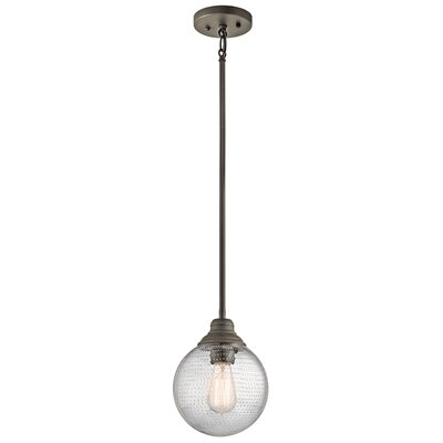 Gracelyn 1-Light Globe Pendant Finish: Olde Bronze