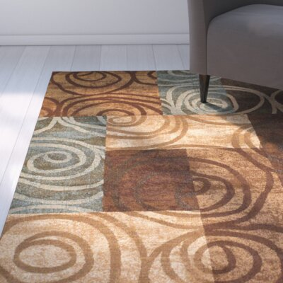 Isadora Brown Area Rug Rug Size: 8 x 11
