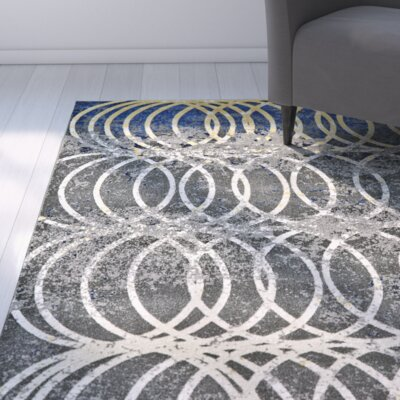Stafford Smoke Area Rug Rug Size: Rectangle 1'8