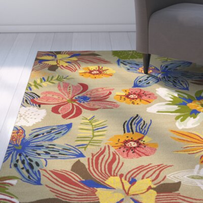 Stacy Olive Outdoor Area Rug Rug Size: 36 x 56