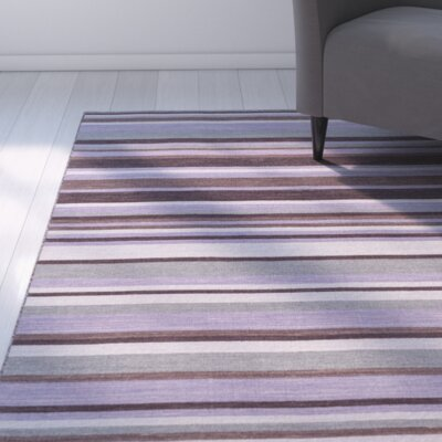 Dixon Hand-Woven Bright Purple Area Rug Rug Size: 8 x 11