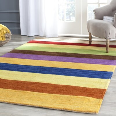 Sherri Hand Woven Wool Beige/Blue/Green Area Rug Rug Size: Rectangle 5 x 8