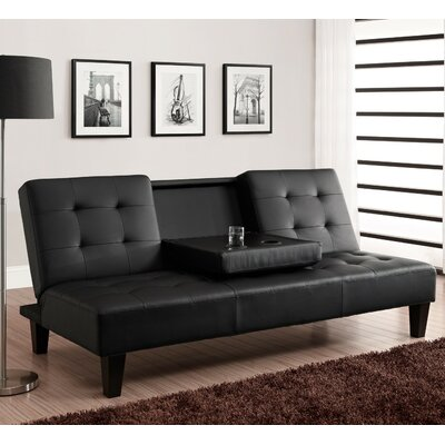 Marcy Convertible Sofa Upholstery: Black