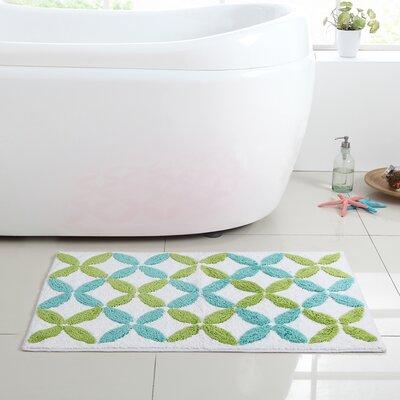 Bill Bath Mat Color: Green / Blue, Size: 20 L x 30 W
