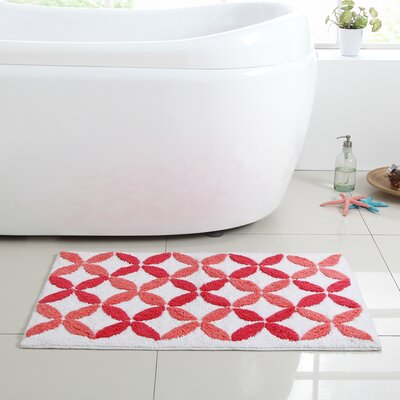 Bill Bath Mat Size: 17 L x 24 W, Color: Coral
