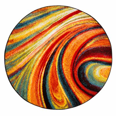 Peyton Multi-Colored Area Rug Rug Size: Round 52