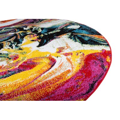 Peyton Multi-Colored Area Rug Rug Size: Round 710