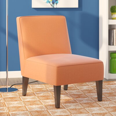 Finley Accent Slipper Chair Upholstery: Orange