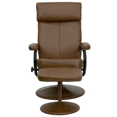 Faith Manual Swivel Recliner with Ottoman Upholstery: Palimino