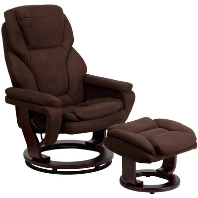 Faith Microfiber Recliner and Ottoman