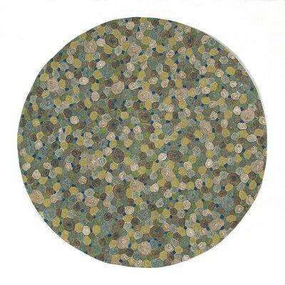 Janell Swirls Indoor/Outdoor Rug Rug Size: Round 8