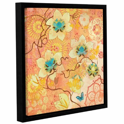 'Coral Clematis Butterfly' Framed Graphic Art Size: 10