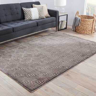 Horton Gray & Tan Geometric Area Rug Rug Size: Rectangle 9 x 12