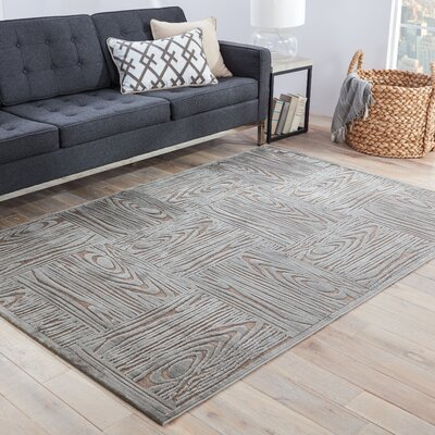 Horton Gray & Tan Area Rug Rug Size: Rectangle 5 x 76