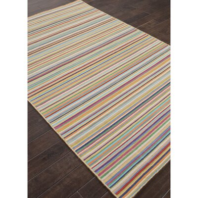 Shane Orange/Blue Stripe Indoor Area Rug Rug Size: Rectangle 2 x 3