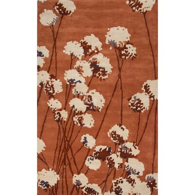 Ryan Taupe/Ivory Floral Area Rug Rug Size: 2 x 3