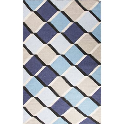 Lutz Blue/Gray Geometric Area Rug Rug Size: 8 x 11