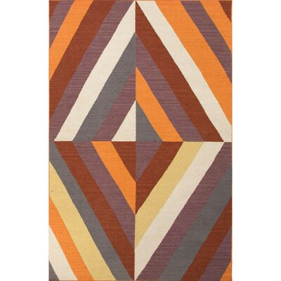 Lutz Blue/Ivory Geometric Area Rug Rug Size: 5 x 8
