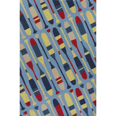 Holmes Blue/Yellow Indoor/Outdoor Area Rug Rug Size: 76 x 96