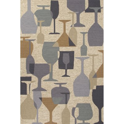 Potter Natural/Gray Indoor/Outdoor Area Rug Rug Size: 76 x 96