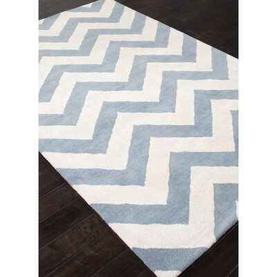 Bettie Milky Blue Chevron Area Rug Rug Size: 2 x 3