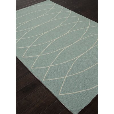 Smith Blue & Ivory Geometric Indoor/Outdoor Area Rug Rug Size: 76 x 96