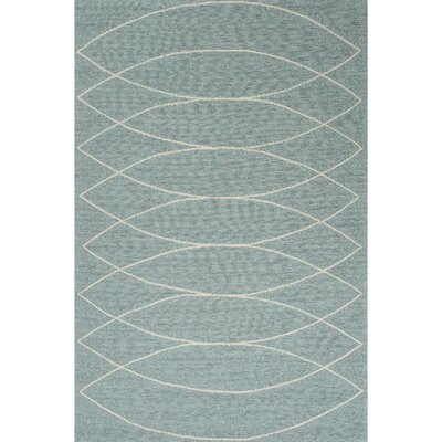 Smith Blue & Ivory Geometric Indoor/Outdoor Area Rug Rug Size: 2 x 3
