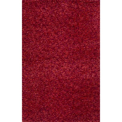 Chelsea Red Solid Area Rug Rug Size: 8 x 10