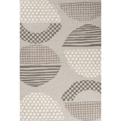 Elenor Hand-Tufted Gray/Brown Area Rug Rug Size: 76 x 96