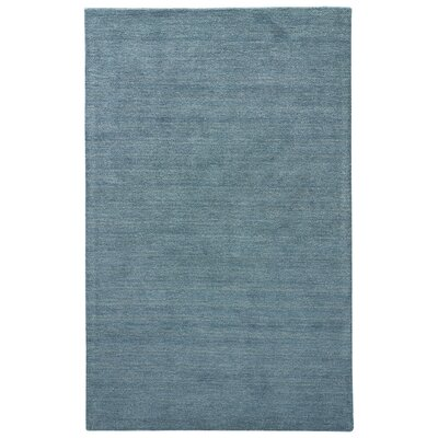 Elianna Hand-Loomed Mallard Blue Area Rug Rug Size: Rectangle 5' x 8'