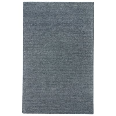 Elianna Hand-Loomed Dark Slate Area Rug Rug Size: Rectangle 8' x 11'