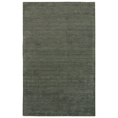 Christine Hand-Loomed Dusty Olive Area Rug Rug Size: 8 x 11