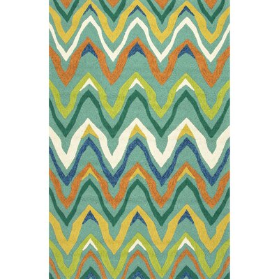 Richardson Green/Blue Indoor/Outdoor Area Rug Rug Size: 36 x 56