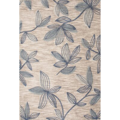 Capucina Polyester Hand Tufted Ivory/Fallen Rock Area Rug Rug Size: 2 x 3